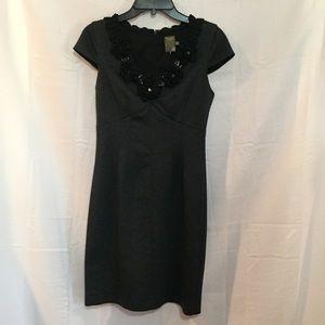 Taylor embellished neckline dress